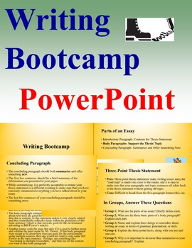 Writing Bootcamp: PowerPoint on How to Write Well (27 slides!)