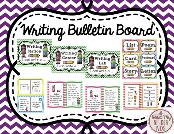 Writing Bulletin Board In Chevron
