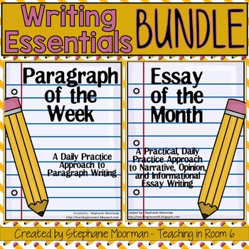 Paragraph of the Week and Essay of the Month Writing Bundle