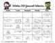 Writing Calendar - October 2016 & IB