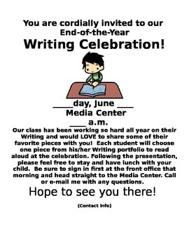 Writing Celebration Flyer