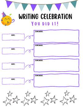 Writing Celebration Form