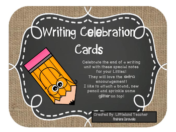 Writing Celebration Notes