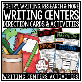 Writing Center Activities - 2nd Grade, 3rd Grade & 4th Grade