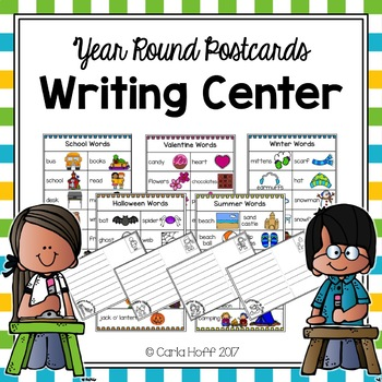 Writing Center Activities - Year Round Postcards