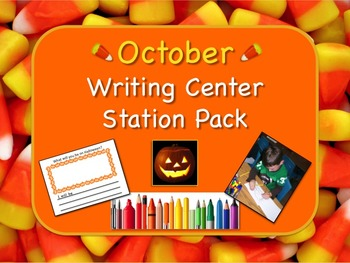 Writing Center Literacy Station for Autumn / October - Ood