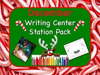 Writing Center Literacy Station for December  - Sprinkles
