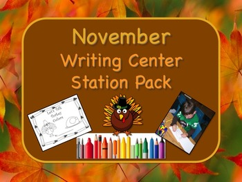 Writing Center Literacy Station for November  - Gobs of Fun!!
