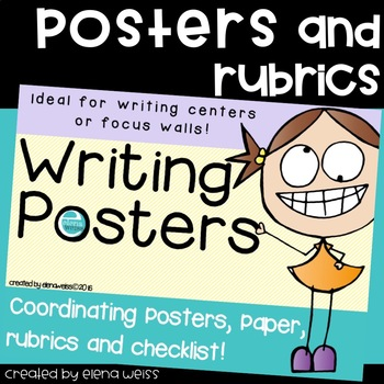 4 Types of Writing: Classroom Posters for your Writing Center