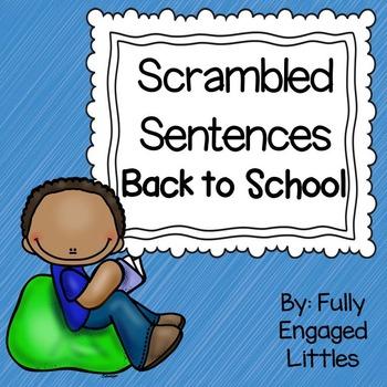Scrambled Sentences Back to School Writing Center