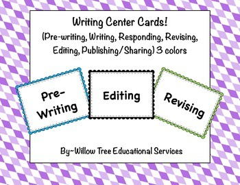Writing Center Step Cards!
