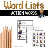 Writing Center Tools- Action Words (verbs)