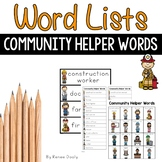 Community Helper Words