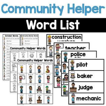 Community Helper Words