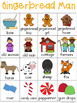 Gingerbread Man Writing Center Tools - Themes