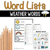 Writing Center Tools- Weather Words