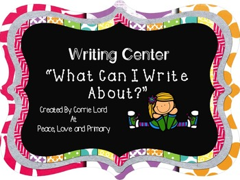 Writing Center - What Can I Write About?