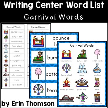 Writing Center Word List ~ Carnival Words
