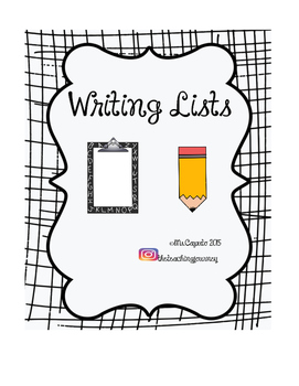 Writing Centre Lists