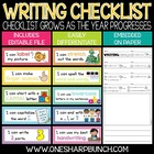 Writing Checklist & Goal Tracker