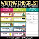 Writing Checklist & Goal Tracker