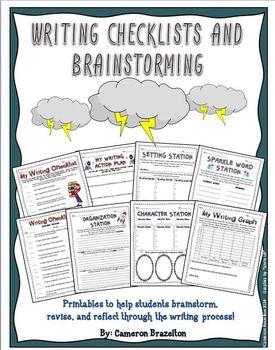 Writing Checklist, Brainstorming, Organizing, and Reflecti