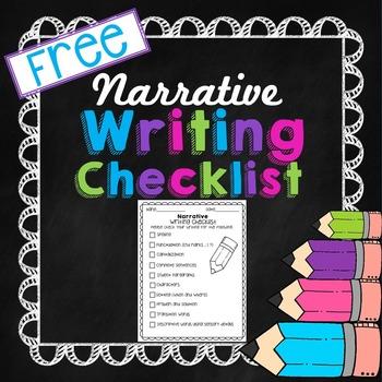 Writing Checklist Narrative