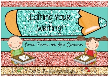 Writing Checklist Posters and Desk Strips