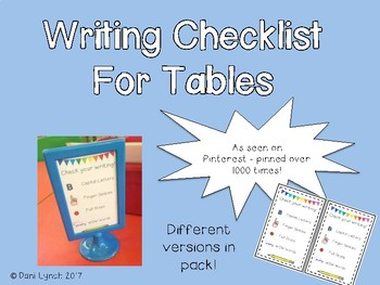Writing Checklist for Table/Ikea Stands
