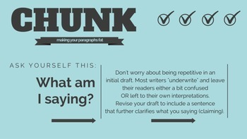 Writing Chunk Task Cards: Making Your Paragraphs Fat (Revi