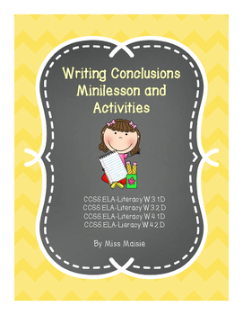 Writing Conclusions Minilesson and Activities (Gradual Release)