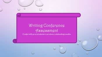 Writing Conference Assessment