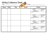 Writing Conference Sheet for student or class with check l