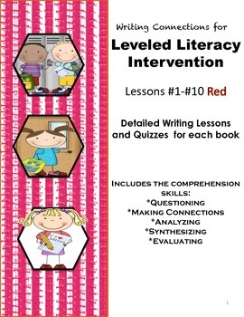 Writing Connections for Red Leveled Literacy Intervention