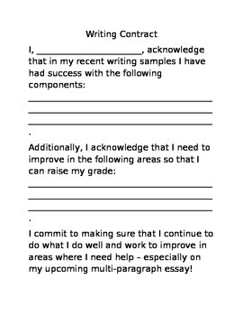 Writing Contract/Set Writing Expectations