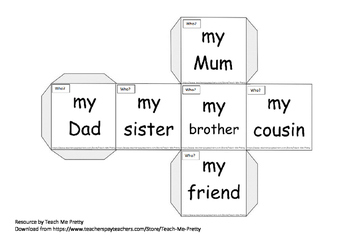 Writing Cube / Writing Sentence / Beginners