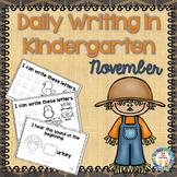 Writing ~ Daily Writing in Kindergarten (Nov.)