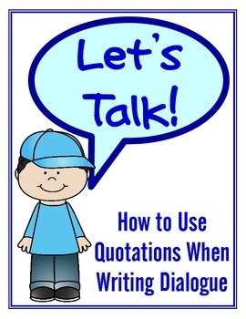 Writing Dialogue: Quotations in Written Conversation (test