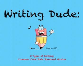 Writing Dude: 3 Types of Writing