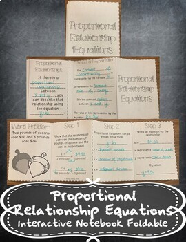 Writing Equations from Proportions - Constant of Proportio