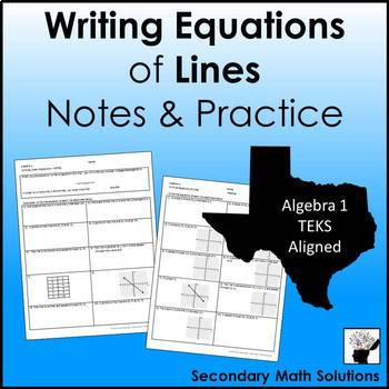 Writing Equations of Lines Practice