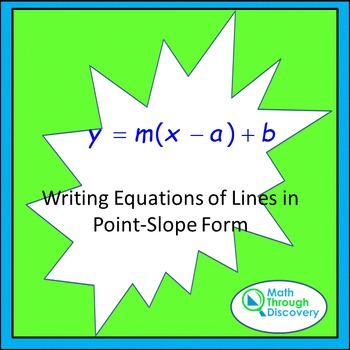 Writing Equations of Lines in Point-Slope Form