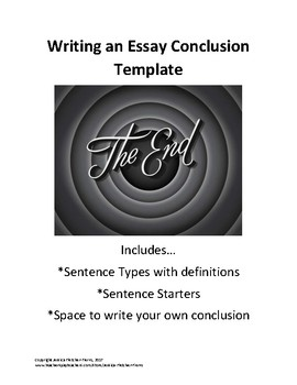 Writing Essay Conclusions Template