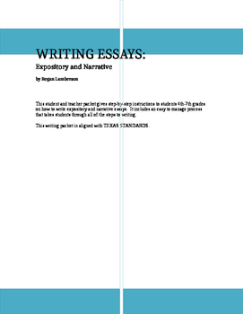 Writing Essays:  Expository and Narrative