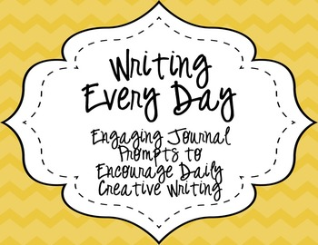 Writing Everyday: July through September Daily Writing Prompts