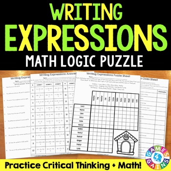 Order of Operations: Writing Expressions From Words Logic