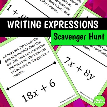 Writing Expressions Scavenger Hunt