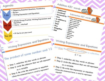 Writing Expressions and Equations (includes game!)