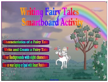 Writing Fairy Tales Smartboard Activity