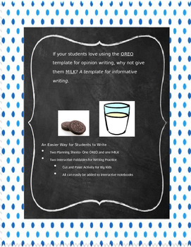 Opinion and Informative Writing Foldables and Templates